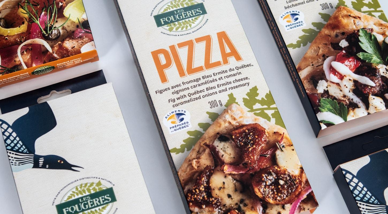 Boîte de pizza alimentaire de la compagnie les fougères