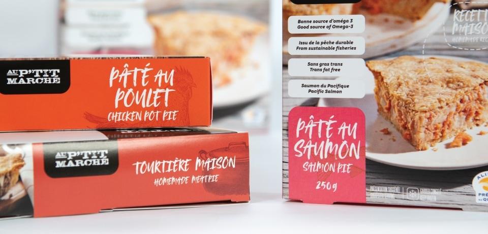 Montage de boîte alimentaire au petit marché