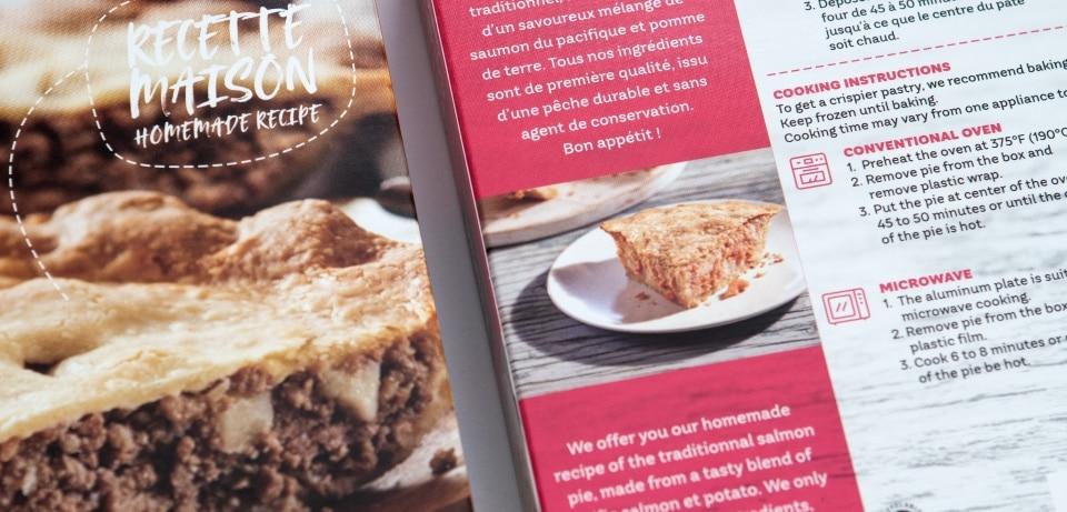 Boîte de recette maison alimentaire au petit marché