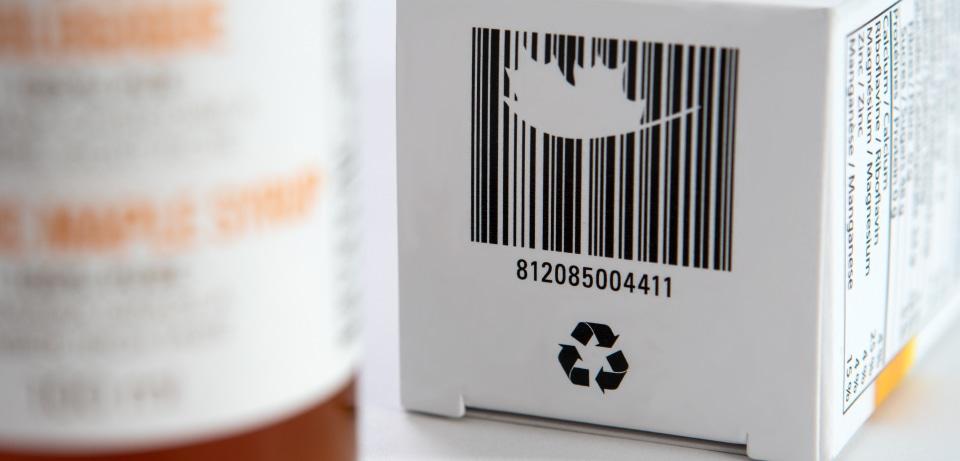 Code Barre sur une boîte