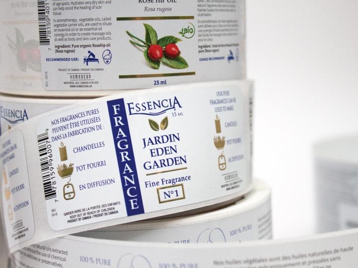 Étiquette Essencia Jardin Eden dans le marché santé et beauté