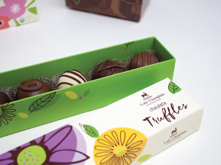 Boîte alimentaire de la compagnie Lake Champlain Chocolates