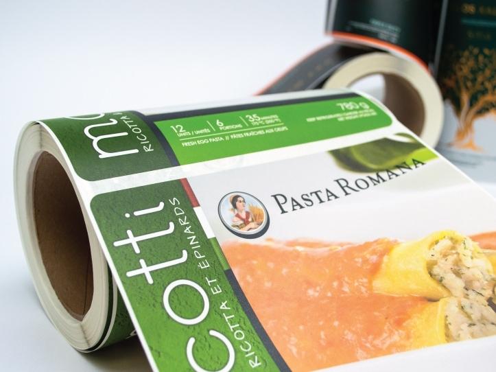 Étiquette du marché Alimentaire, Pasta Romana