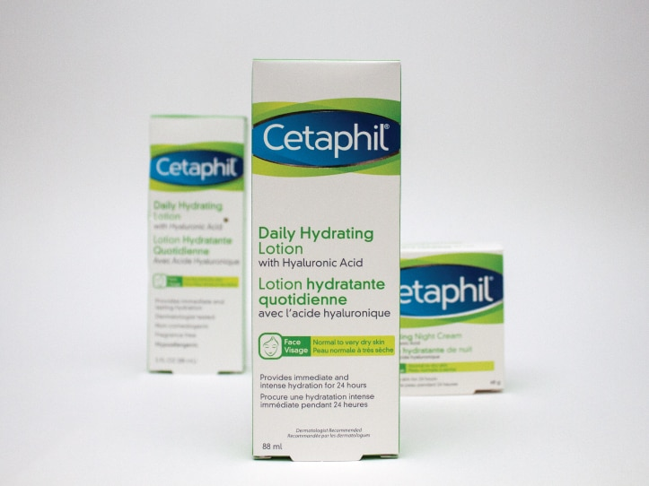 Montage de boîte santé et beauté de la compagnie Cetaphil