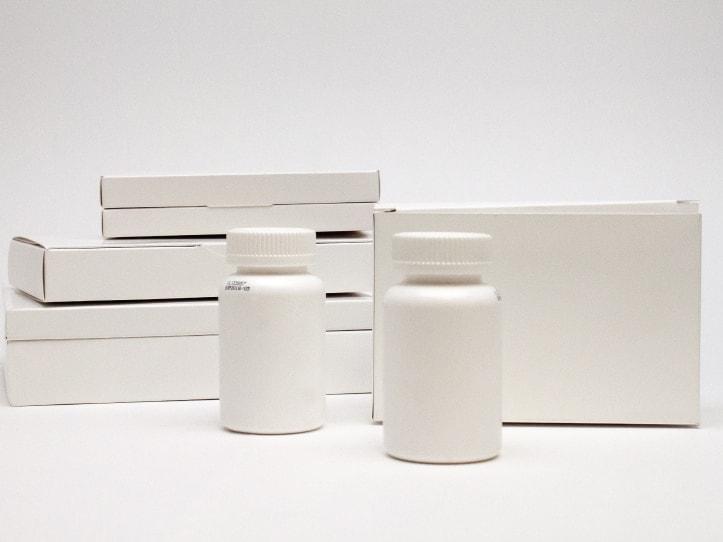 Exemple de conception structurelle et de bouteille pour médicaments