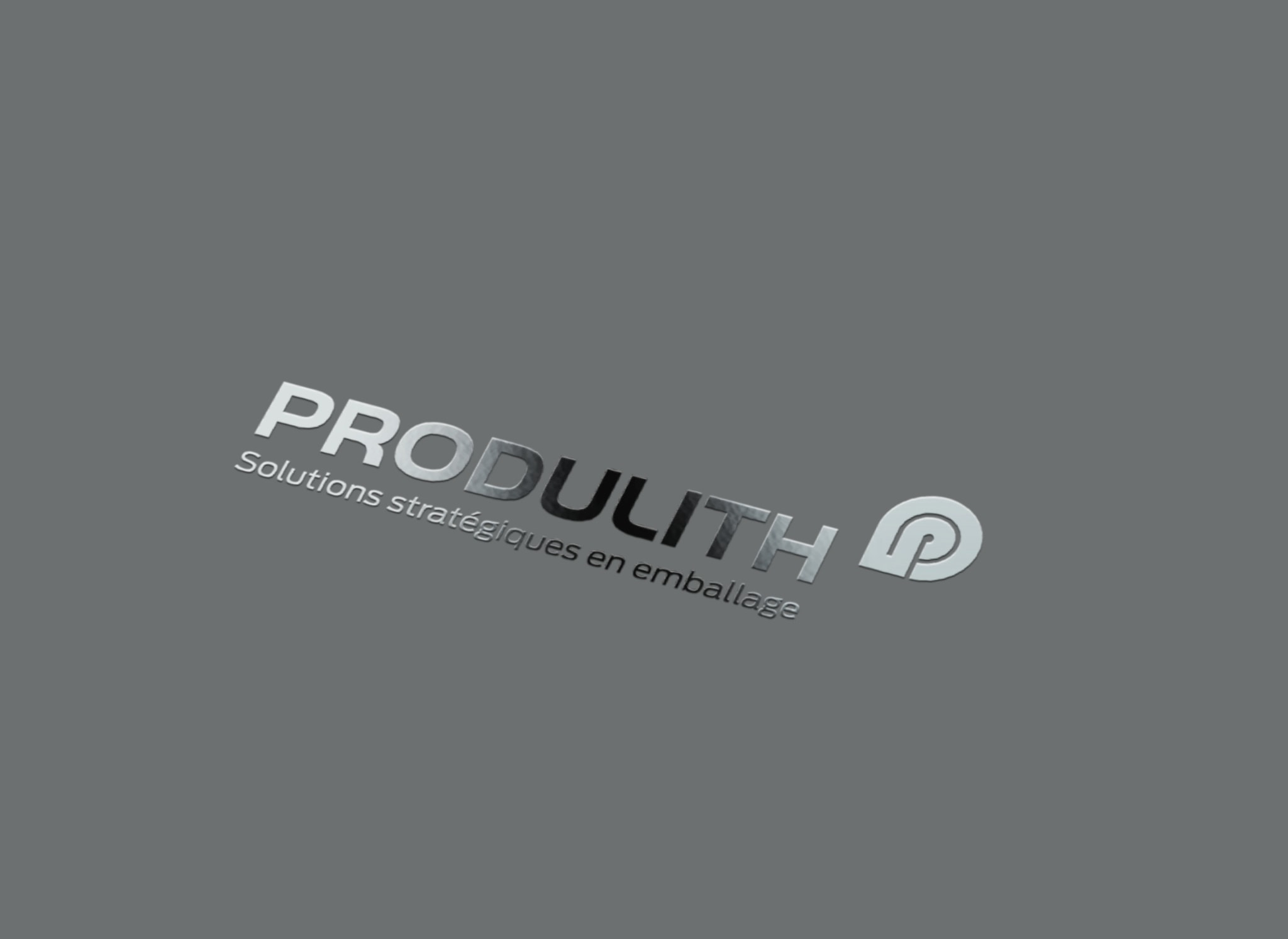 Spot UV Produlith sur fond gris