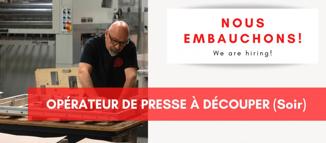 Nouvelles Site Web, Nous embauchons!